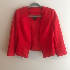 The Limited Bright Red Cropped Blazer